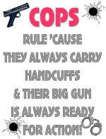 Cops are alway ready for any situation that might arise, on or off duty.