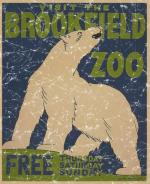 Brookfield Zoo is a vintage poster from 1936. This retro t-shirt has a distressed look as though you've had it for years.