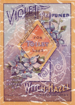 Violet Perfumed Witch Hazel is a vintage poster from 1903. This retro t-shirt has a distressed look that seems like you've had it for years.