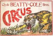 Clyde Beatty-Cole Bros. Circus. A vintage circus poster from 1903. This retro t-shirt has a distressed look as though you've had it for years.