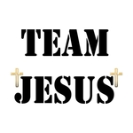 Wear this Trendy Christian T-shirt - Team Jesus Send the Message that you are a member of the Best Team Anywhere- Team Jesus! Get Hip with Jesus with these trendy Christian T-shirts - Spread the Word!