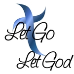 Let Go - Let God is a simple yet powerful Christian Message Young Christian T-shirts with style Blue ribbon cross behind the message.Get Hip with Jesus with these trendy Christian T-shirts - Spread the Word! Let go- Let God