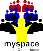 myspace is in God's House shows Jesus and his followers in myspace style. Christian T-shirts that our youth will love to wear and show their love for the Lord. Get Hip with Jesus with these trendy Christian T-shirts - Spread the Word!