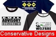 Designs, Apparel, Clothing and gifts perfect for your right wing attitude!