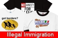 Got an opinion about Illegal Immigration that some people might not like?  Don't worry!  We've got the clothing and apparel that's right for you!