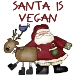 Santa is Vegan logo