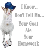 The teacher is already a step ahead of you with  the Goat Ate my Homework excuse for not having homework in on time. I know, Don't tell me, Your goat ate your homework is a funny but spot on Teacher T-shirt.