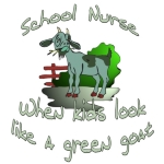 When you need a clever gift  for the school nurse- This little goat is sick and needs your help- give a unique gift  that will bring a smile to any sick student - Goat Nurse - What could be more fun?