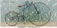 Lawson's Bicyclette is a vintage bicycle advertisement from 1879. This design has a lightly distressed look as though you've had it for years.