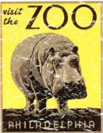 Philadelphia Zoo is a vintage poster from 1936. This retro t-shirt has a distressed look as though you've had it for years.
