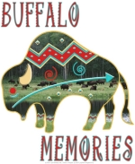 """Buffalo Memories"" is a beautiful fetish-style Native American design, reminiscent of the times when the buffalo filled the plains; the herds provided life-giving food, shelter & clothing to the tribes. Native Americans consider the buffalo sacred."