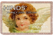 Hinds honey and cream skin cream advertisement from 1893. This design has a lightly distressed look for a more aged appearance.