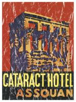 Cataract Hotel, Aswan, Egypt is a vintage travel poster from 1905. The design has a lightly distressed look for a more aged appearance and to look like you've had it for years.