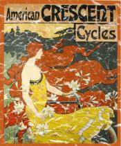 American Crescent Cycles is a vintage poster advertisement from 1899. The design has a lightly distressed appearance to look like you've had it for years.