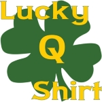 A fun dog activity shirt, it is your lucky Q (qualifying) shirt.  With adequate practice and motivation this shirt can help you Q any time you wear it .... being (of course) defined by the ability to Q. Agility, rally, herding, it will bring a smile.