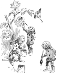 One of Harry Rountree's illustrations for Lewis Carroll's <i>Alice in Wonderland.</i>