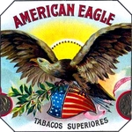 American Eagle cigar label artwork.