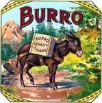 Burro Cigar Label artwork.