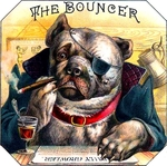 Bouncer Bulldog cigar label artwork.