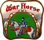 War Horse cigar label artwork.