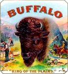 Buffalo cigar label artwork.