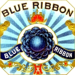 Blue Ribbon cigar label artwork.