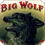 Big Wolf cigar label artwork.