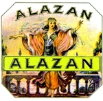 Alazan Dancing Gypsy cigar label artwork.