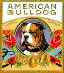 American Bulldog cigar label artwork.
