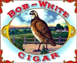 Bob-White cigar label artwork.