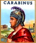Carabinus Roman cigar label artwork.