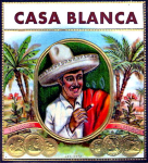 Casa Blanca cigar label artwork.