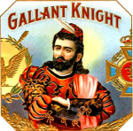 Gallant Knight cigar label artwork.