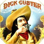 Dick Custer cigar label artwork.