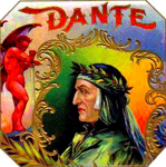 Dante cigar label artwork.