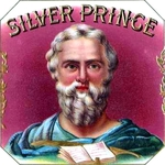 Silver Prince cigar label artwork.