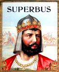 Superbus cigar label artwork.