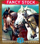 Fancy Stock Horses cigar label artwork.