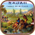 Rajah cigar label artwork.