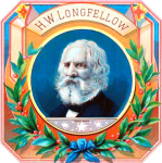 Longfellow cigar label artwork.