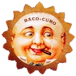 Funny Face cigar label artwork.