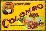 Colombo cigar label artwork.