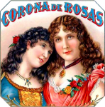 Corona de Rosas cigar label artwork.