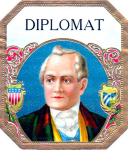 Diplomat cigar label artwork.