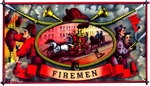 Firemen cigar label artwork.
