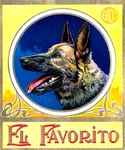 German Shepherd cigar label artwork.