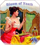 Bloom of Youth cigar label artwork.