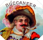 Buccaneer cigar label artwork.