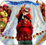 Tobogganing cigar label artwork.