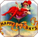 Happy Days cigar label artwork.